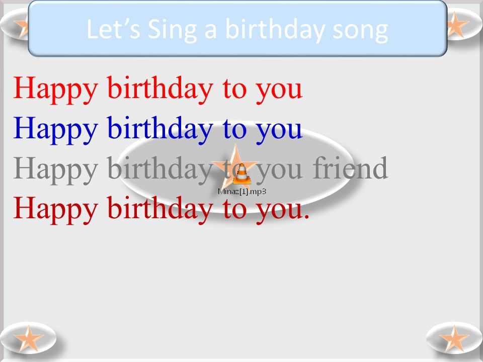 Let's Sing a birthday song
