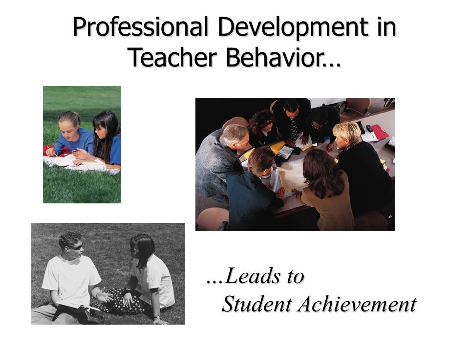 Professional Development in Teacher Behavior…