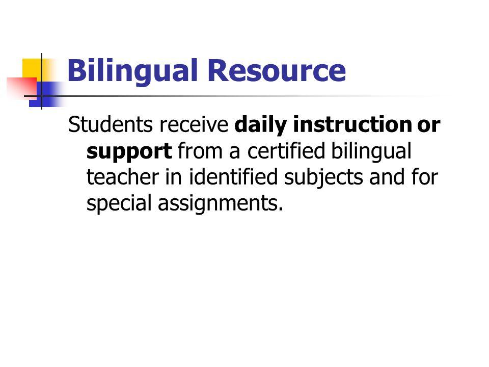 Bilingual Resource
