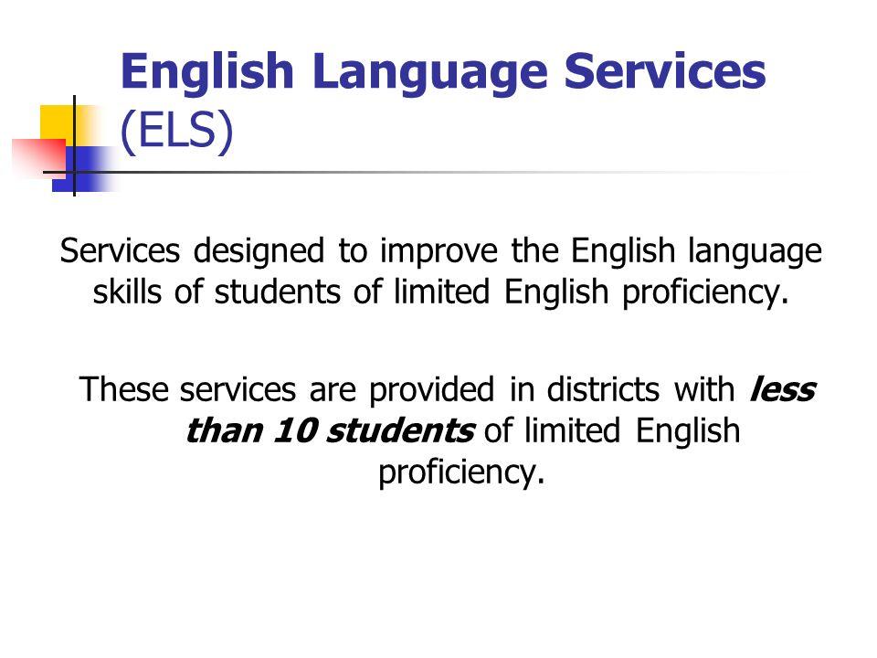 English Language Services (ELS)