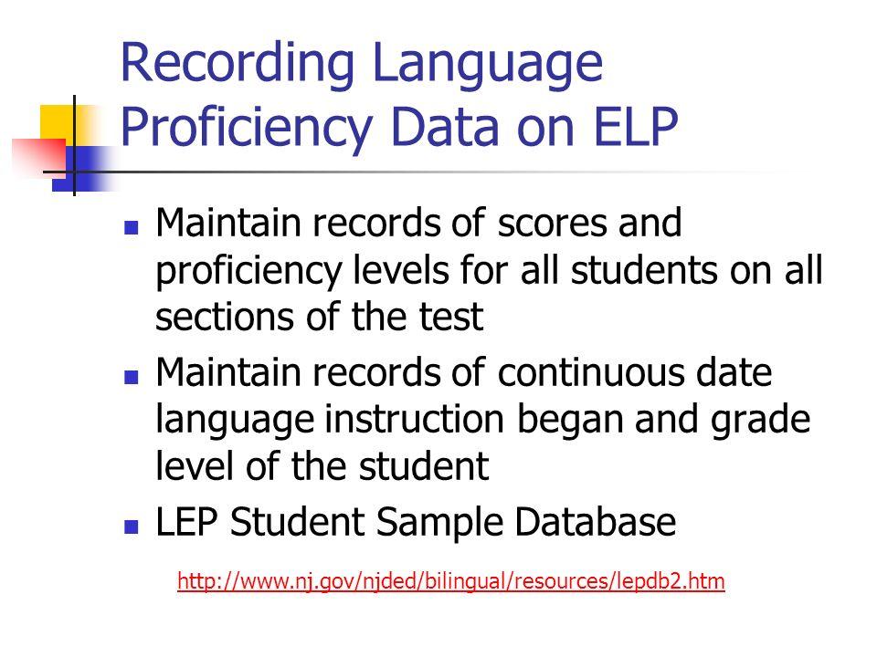 english language and english proficiency levels