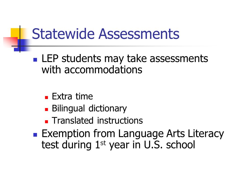 Statewide Assessments