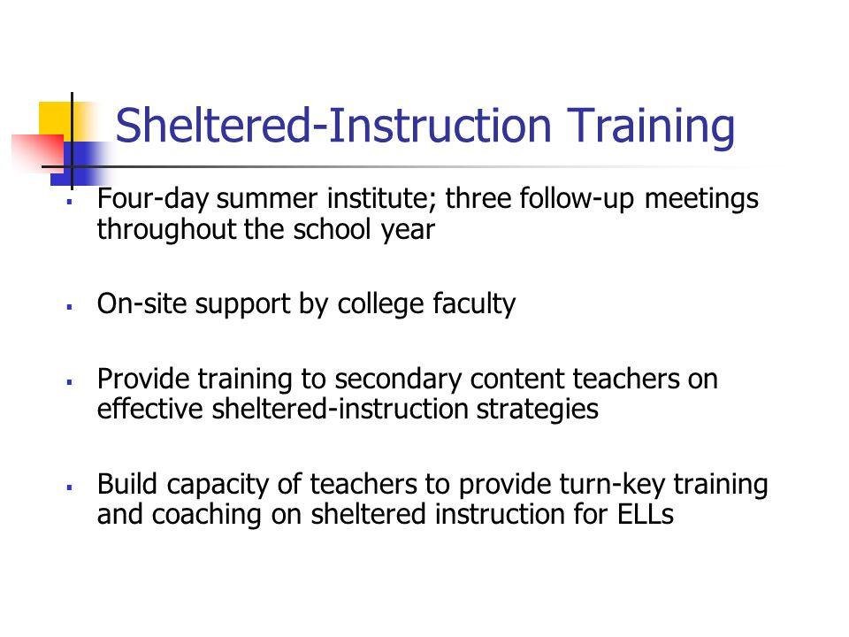 Sheltered-Instruction Training