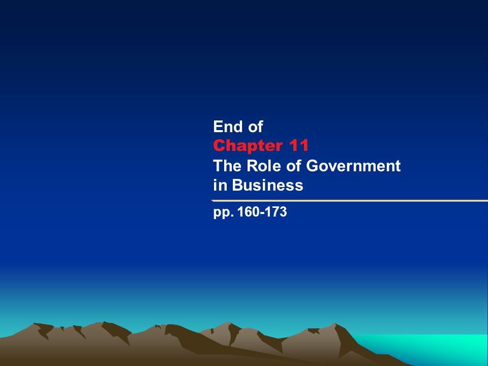 role of government in business pdf