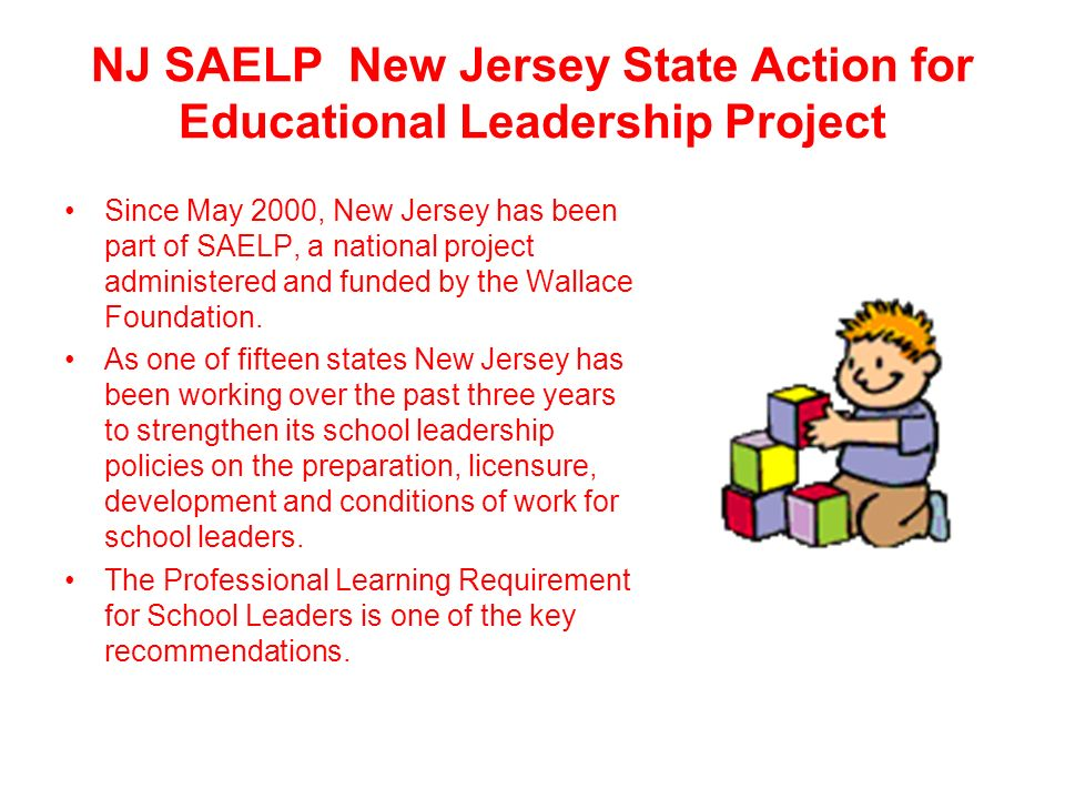 NJ SAELP New Jersey State Action for Educational Leadership Project
