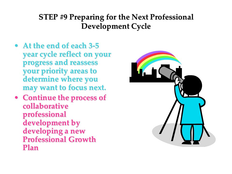 STEP #9 Preparing for the Next Professional Development Cycle