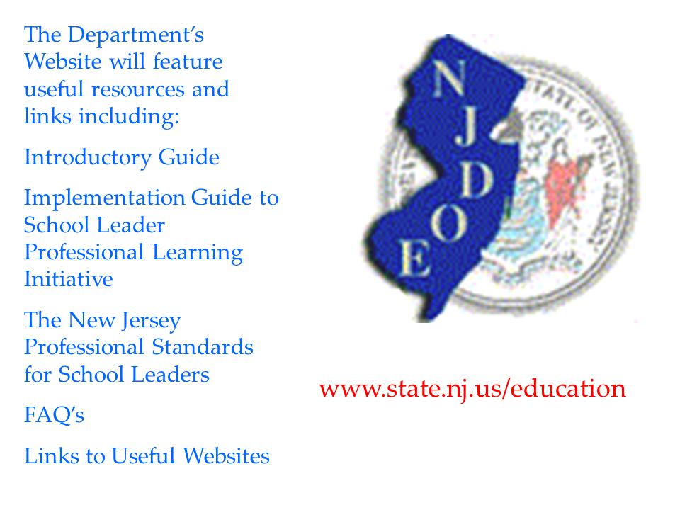The Department's Website will feature useful resources and links including: