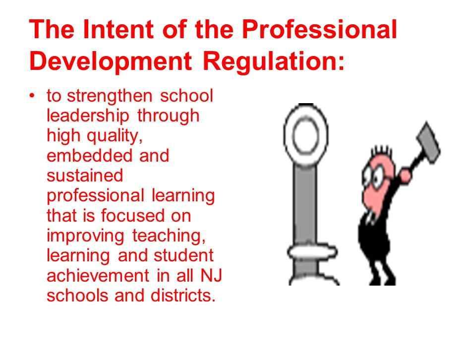 The Intent of the Professional Development Regulation: