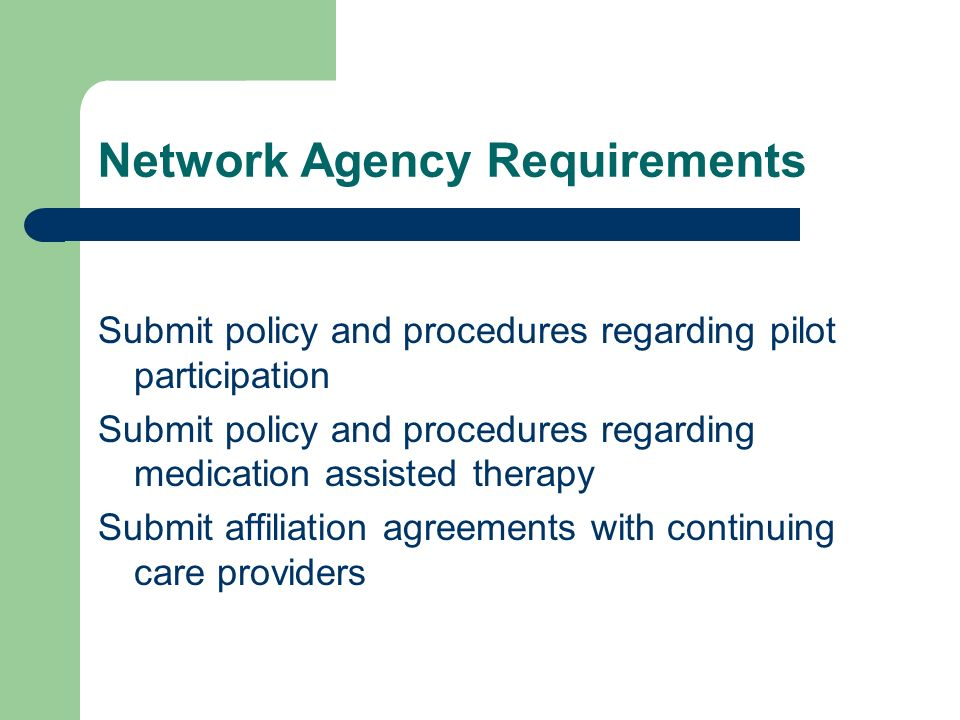 Network Agency Requirements