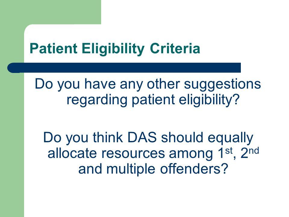 Patient Eligibility Criteria