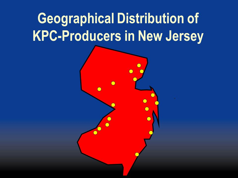 Geographical Distribution of KPC-Producers in New Jersey