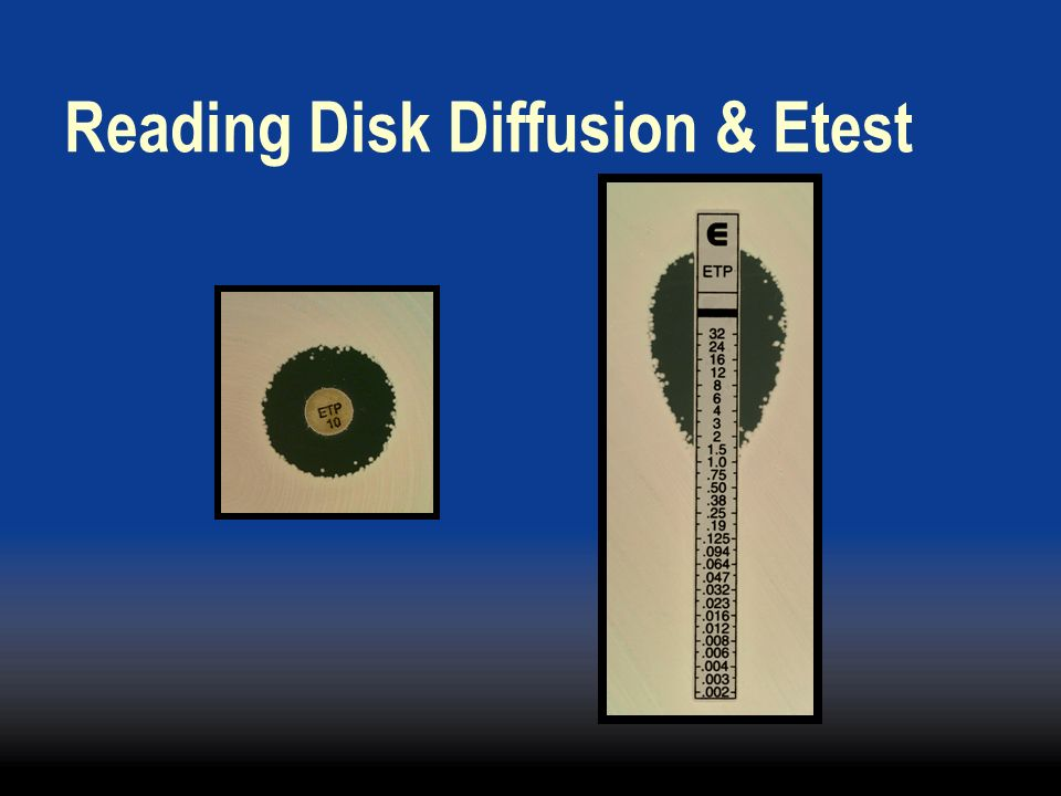 Reading Disk Diffusion & Etest