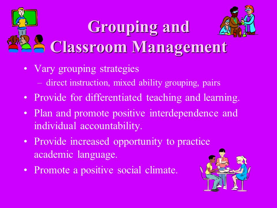 Grouping and Classroom Management