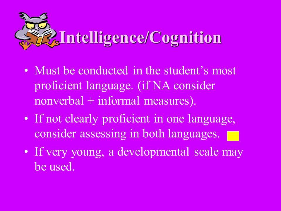 Intelligence/Cognition