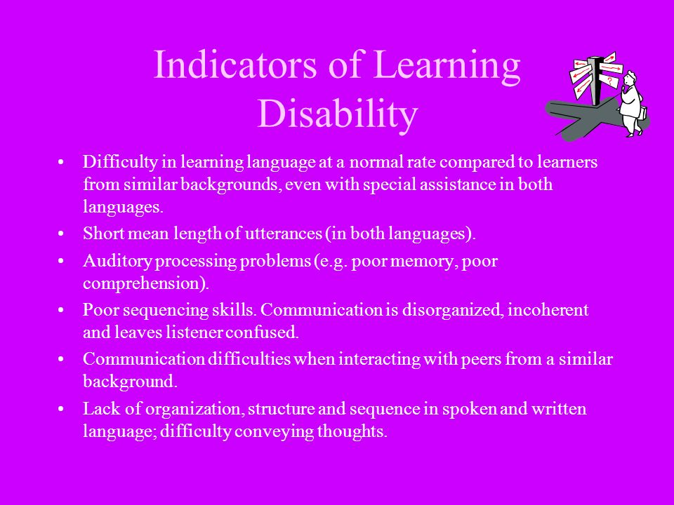 Indicators of Learning Disability