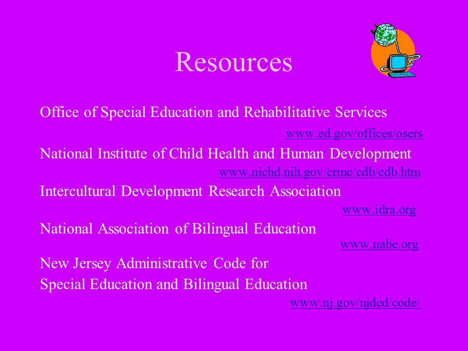 Resources Office of Special Education and Rehabilitative Services