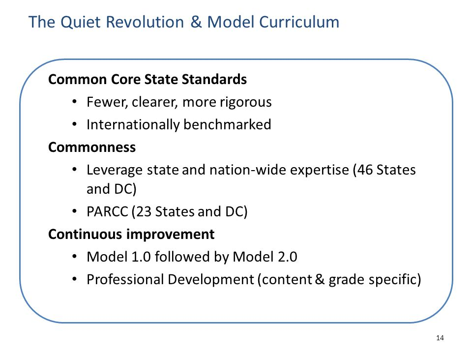 The Quiet Revolution & Model Curriculum