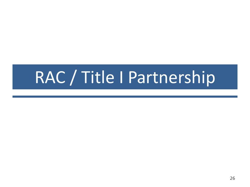 RAC / Title I Partnership