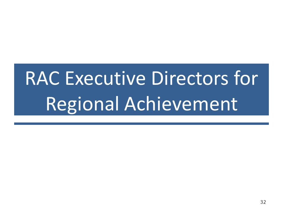 RAC Executive Directors for Regional Achievement