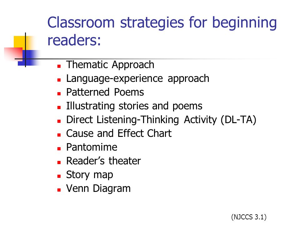Classroom strategies for beginning readers: