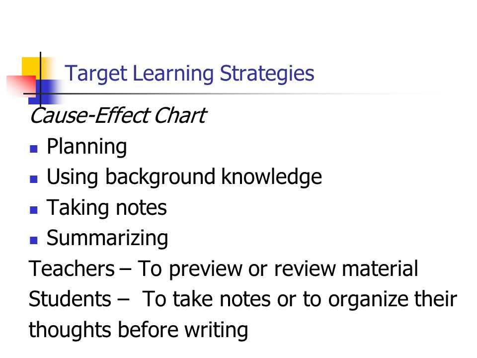 Target Learning Strategies