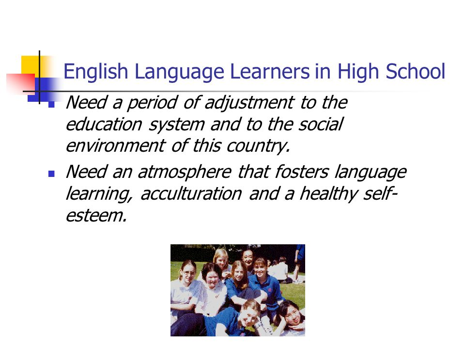 English Language Learners in High School