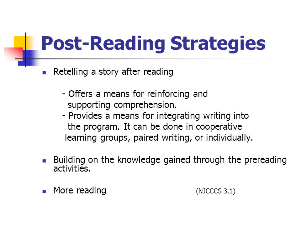 Post-Reading Strategies