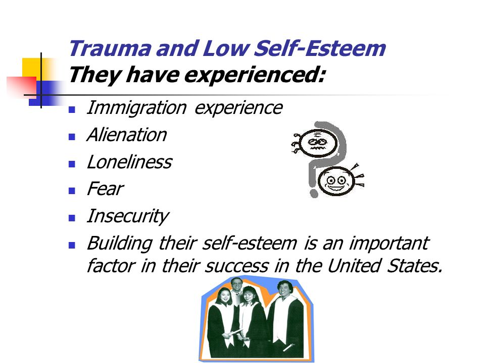 Trauma and Low Self-Esteem They have experienced: