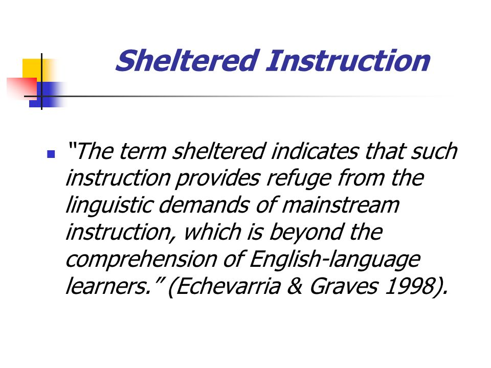Sheltered Instruction
