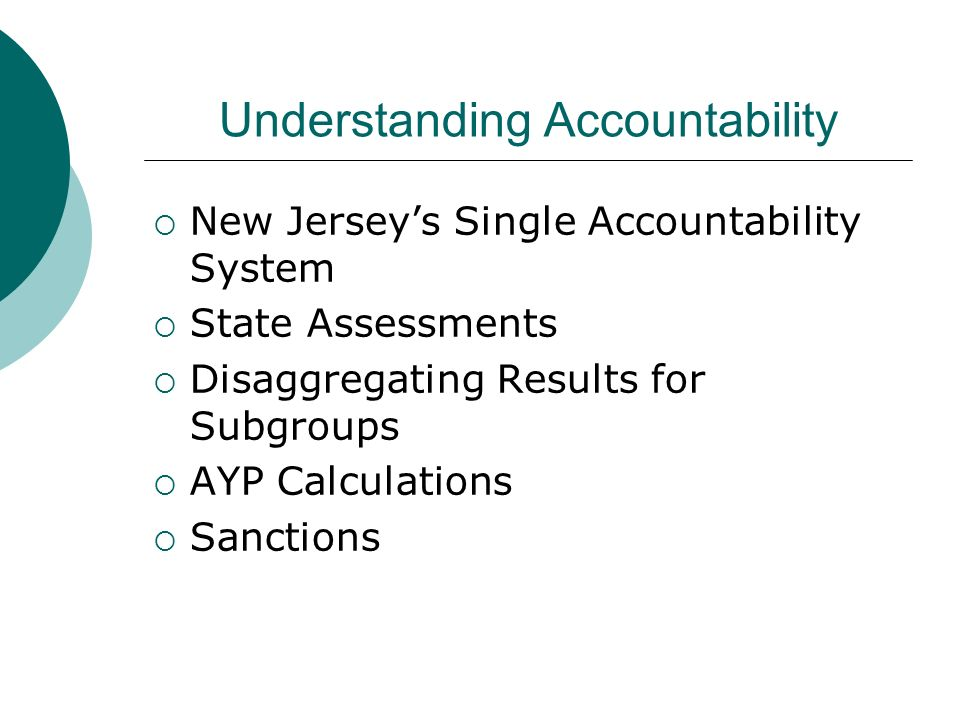 Understanding Accountability