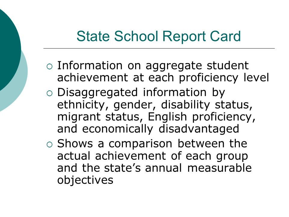State School Report Card