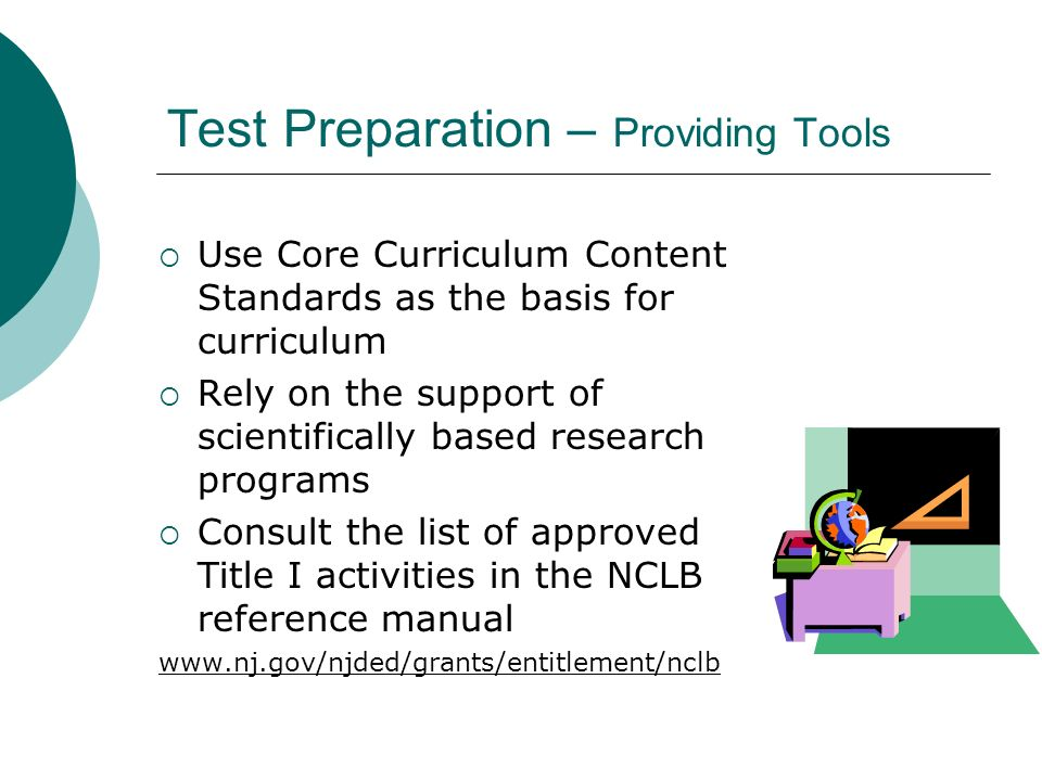 Test Preparation – Providing Tools