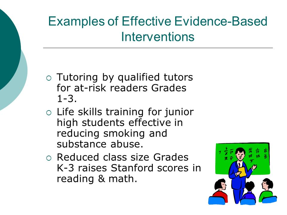 Examples of Effective Evidence-Based Interventions