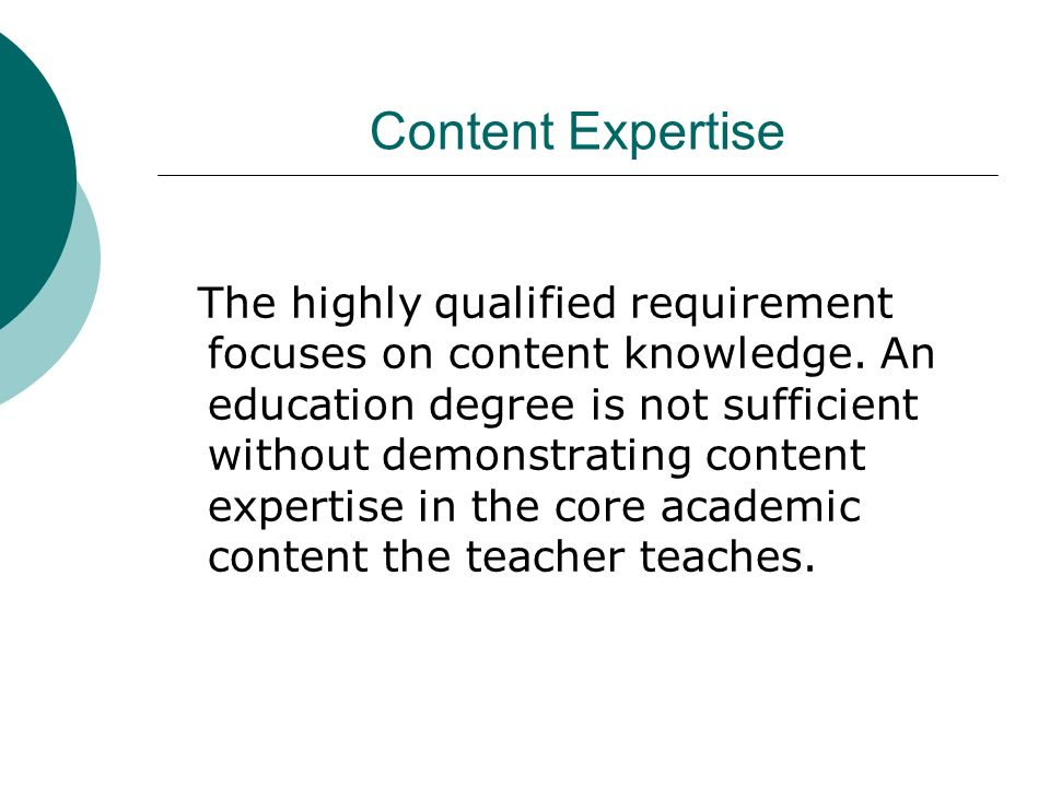 Content Expertise