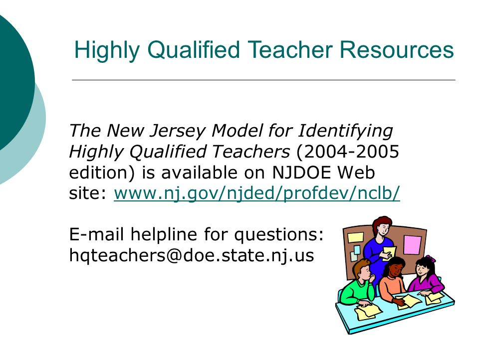 Highly Qualified Teacher Resources
