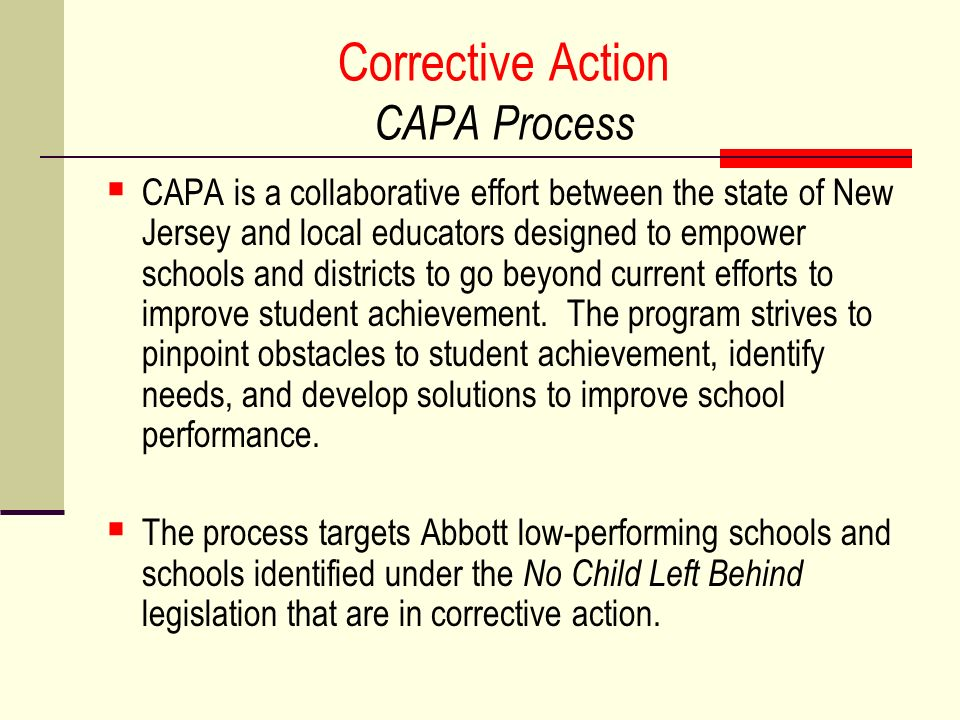 Corrective Action CAPA Process