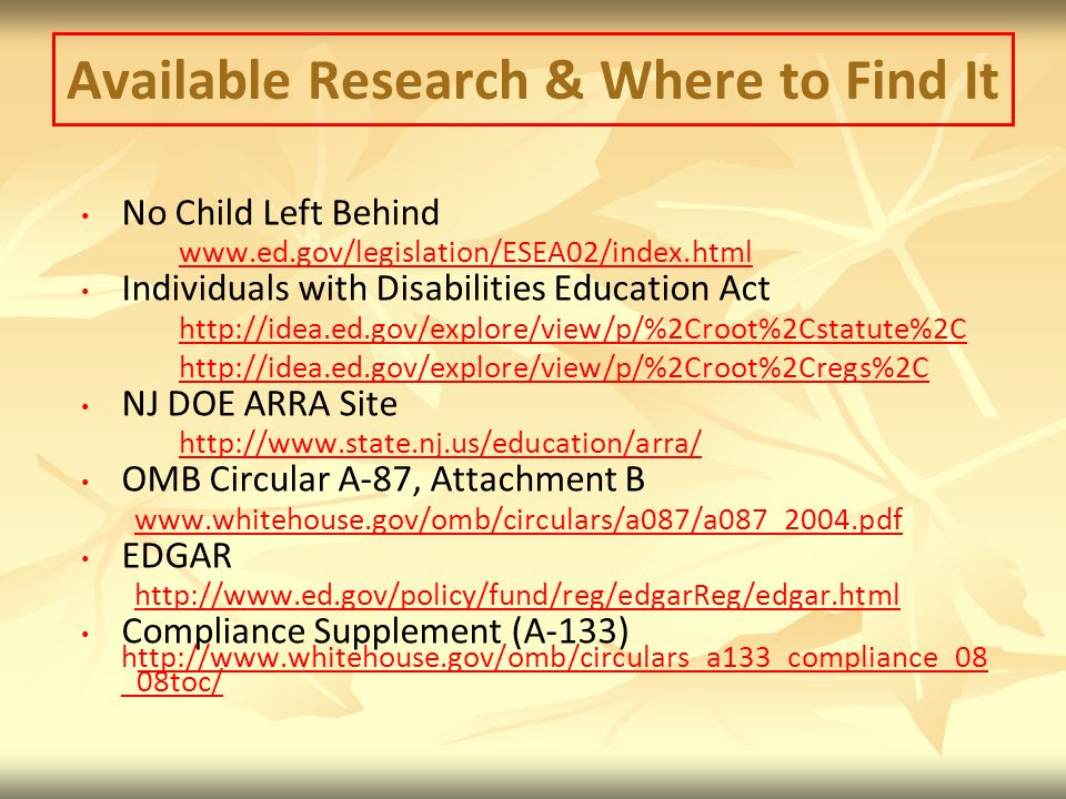 Available Research & Where to Find It
