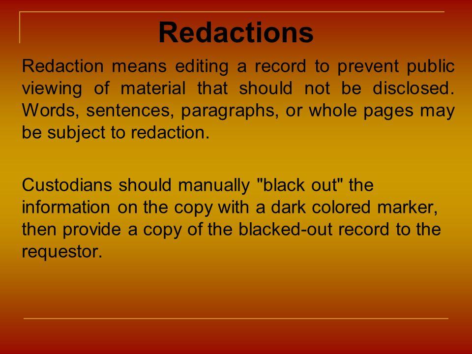 Redactions