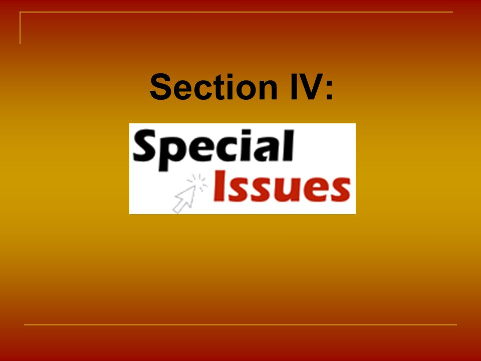 Section IV: