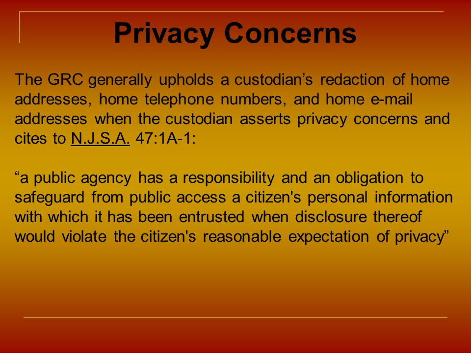 Privacy Concerns