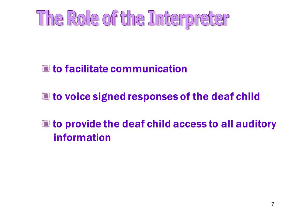The Role of the Interpreter