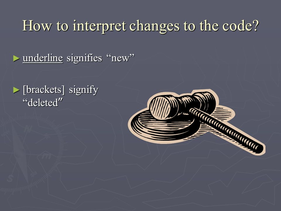 How to interpret changes to the code