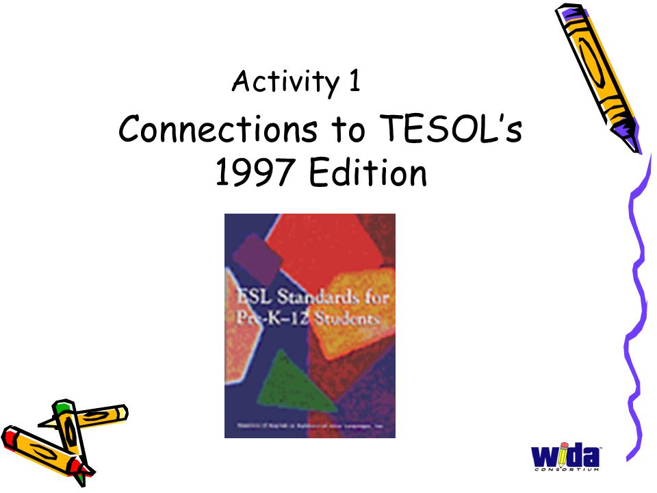 Connections to TESOL's 1997 Edition