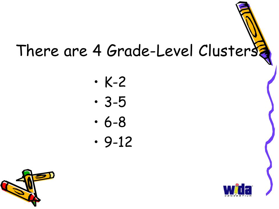 There are 4 Grade-Level Clusters