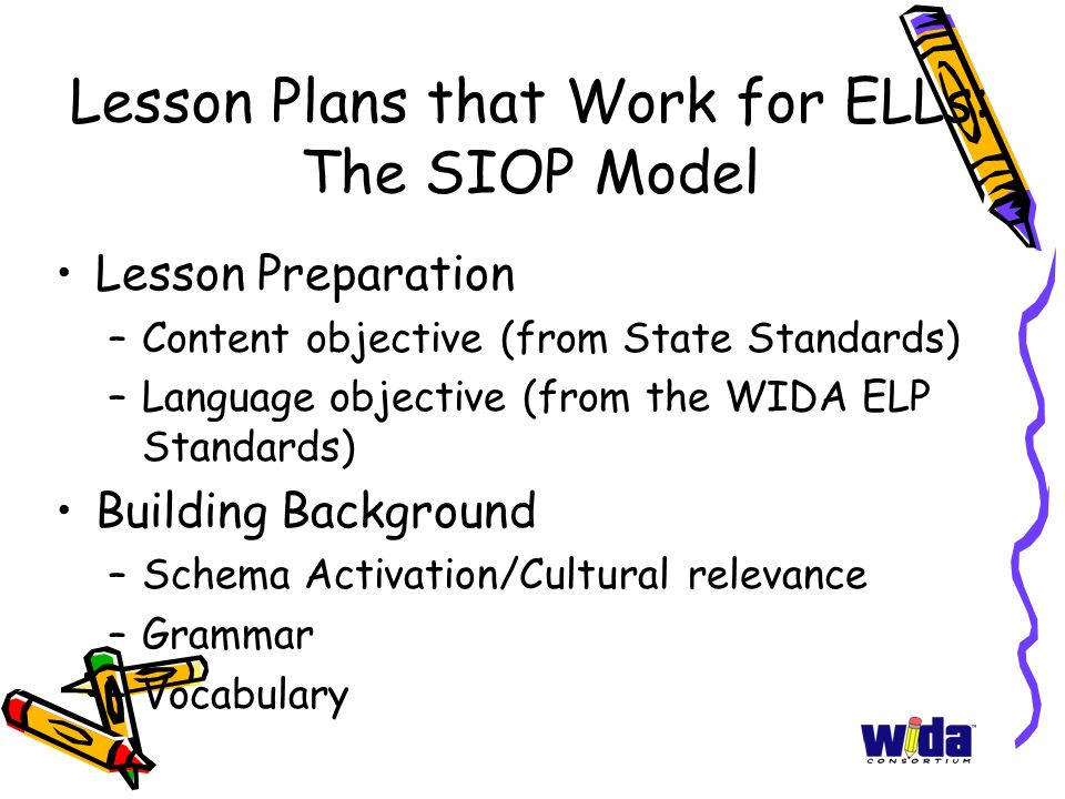 esl lesson plans using siop model This is an esl-based lesson plan template that i created, using elements that i pulled from the siop model lesson plan templates, which you can find in the book making content comprehensible for english language learners by echevarria, vogt, and short.