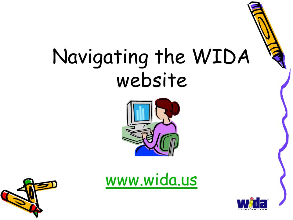 Navigating the WIDA website www.wida.us