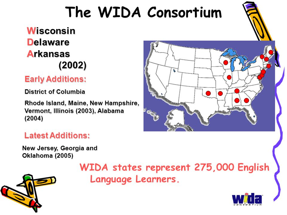 The WIDA Consortium Wisconsin Delaware Arkansas (2002)