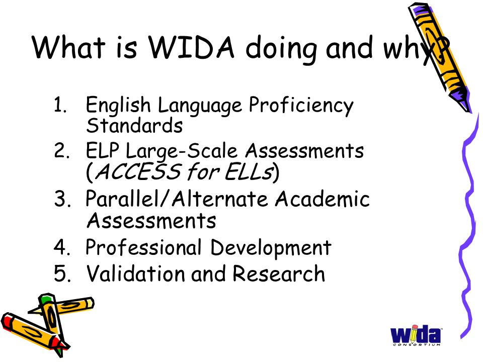 Allignment of academic standards with ell