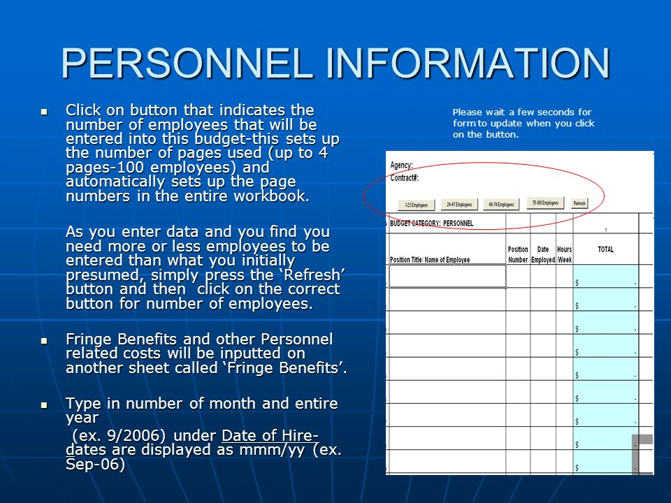 PERSONNEL INFORMATION