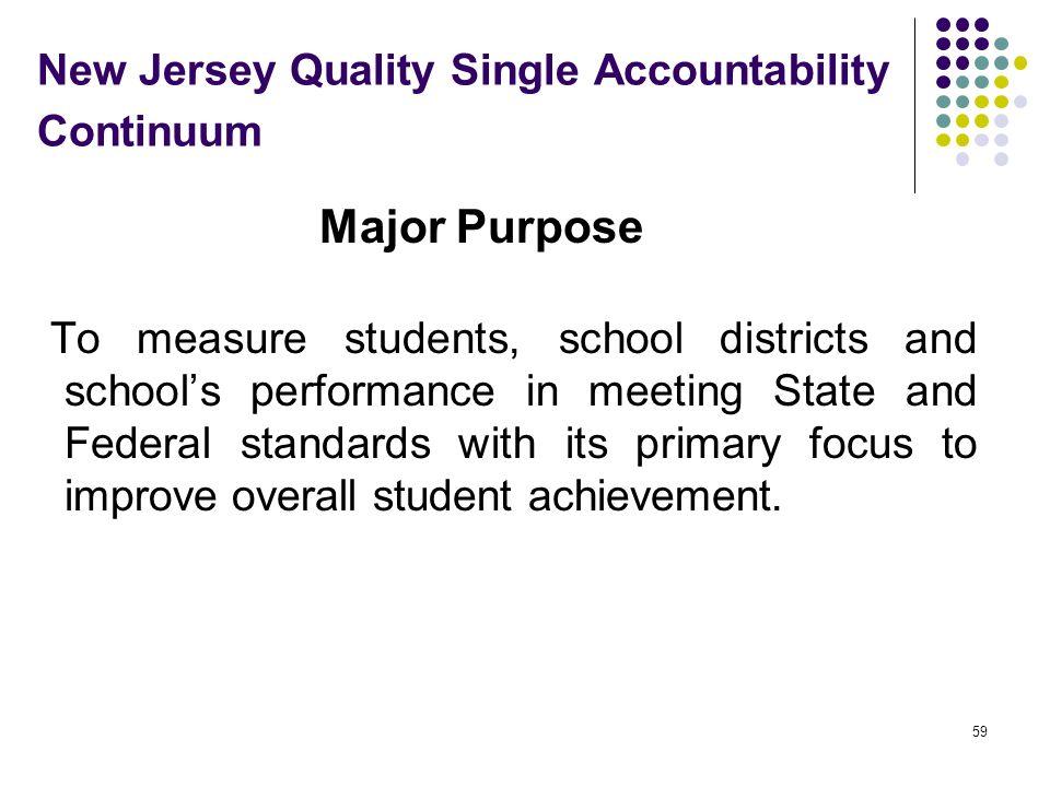 New Jersey Quality Single Accountability Continuum